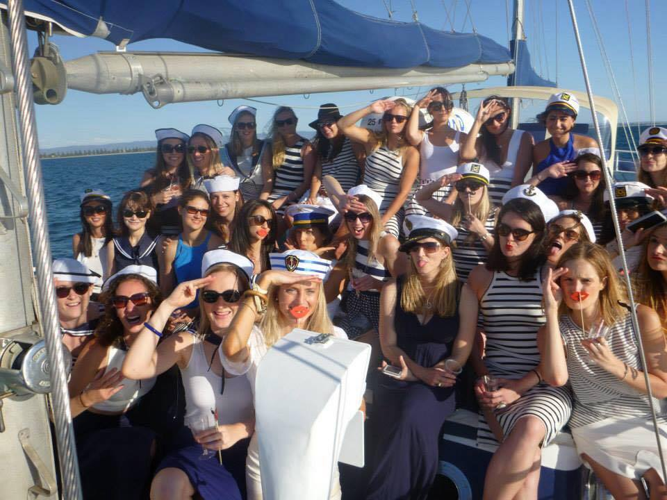 Hens themes on boat